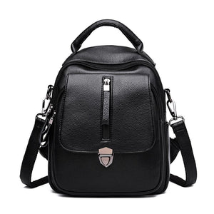New Women Backpack  High Quality pu Leather