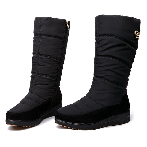 Snow Boots Women Plush Insole Waterproof Mid-Calf