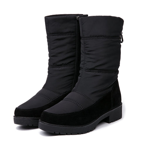 Waterproof Comfortable Snow Boots Heels Shoes