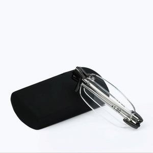 Rimless Foldable Reading Glasses Anti Fatigue