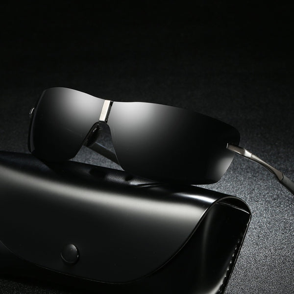 HD Night Vision Rimless Driving Sunglasses