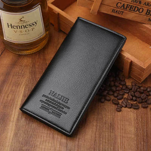 Business Men's Long Slim Wallet PU