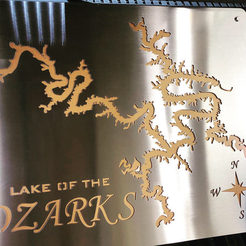 Lake of the Ozarks Stainless Steel Wall Art