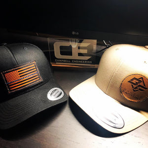 Hats with Custom Leather Patch