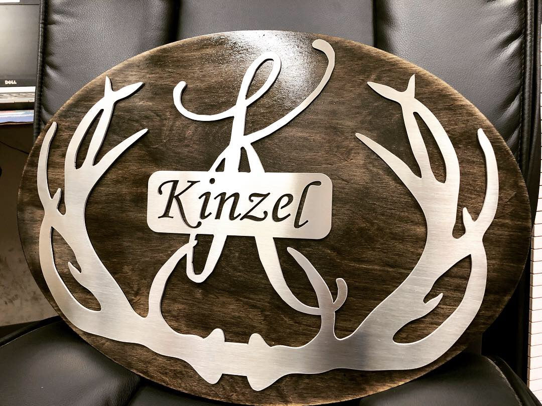 Stainless/Wood Monogram