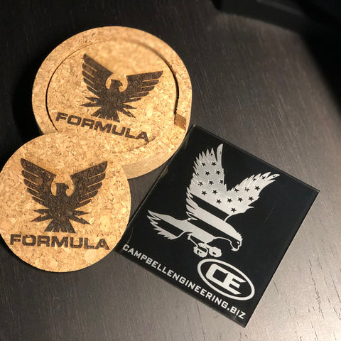 Cork Coasters (set of 4 with holder)