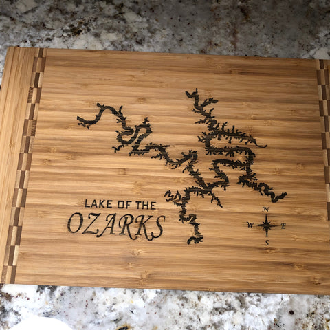 Lake of the Ozarks Bamboo Cutting Board