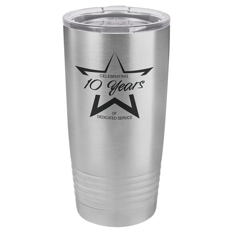 20oz Vacuum Insulated Tumbler - Engraved Powder Coated Stainless Steel Mug