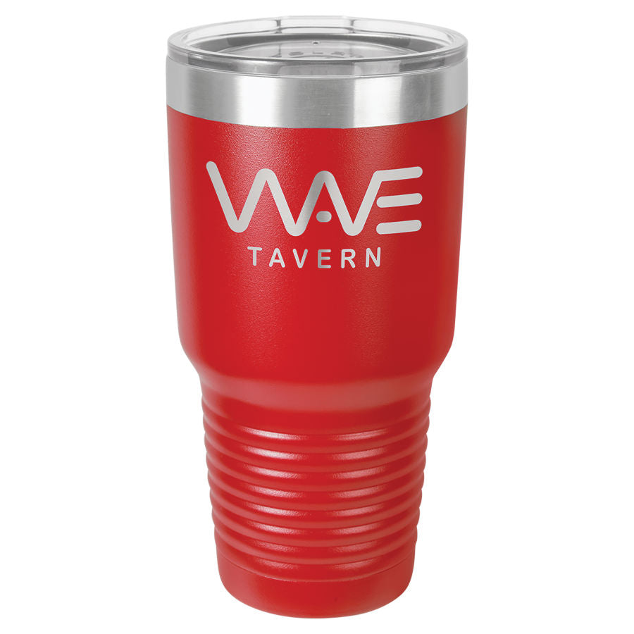 30oz Vacuum Insulated Tumbler - Engraved Powder Coated Stainless Steel Mug