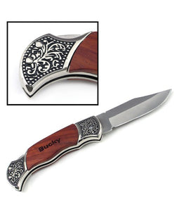 Wood handle pocket knife
