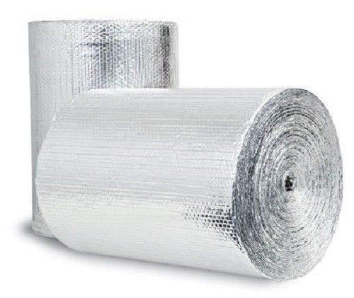 "(100sqft) Double Bubble Foil (4ft x 25ft) Reflective Foil Insulation Thermal Barrier R8 With Kit (Foil Tape 2""x 180' + Squeegee+Razor)"
