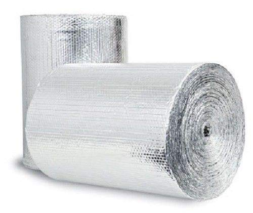 6inch x 25ft (6x25) NASATECH Reflective Double Bubble DBFF (not cheap bubble) Spiral Duct Wrap Seam Sealer Pipe Wrap Faucet Insulation