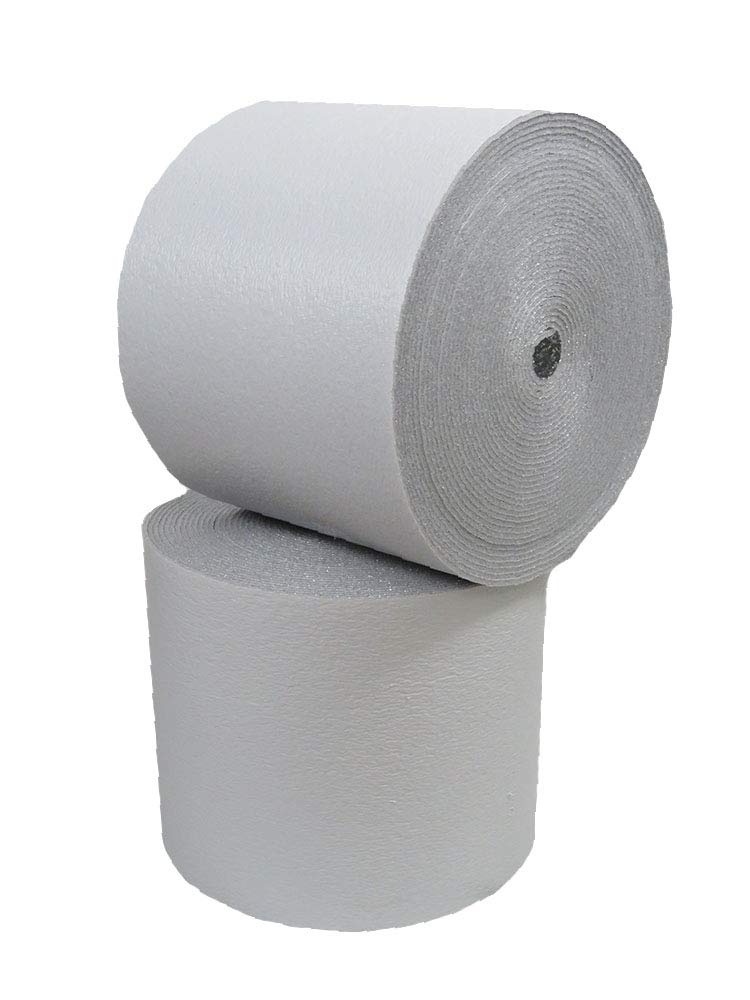 "Reflective Foam Core 24""x25' White  Insulation Pipe HVAC Duct Wrap (24""x25')"