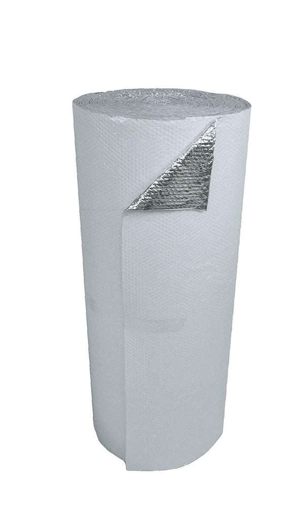 (100sqft) Single Bubble Foil White (4ft x 25ft) 1/8 inch Reflective Foil Insulation Thermal Barrier R8
