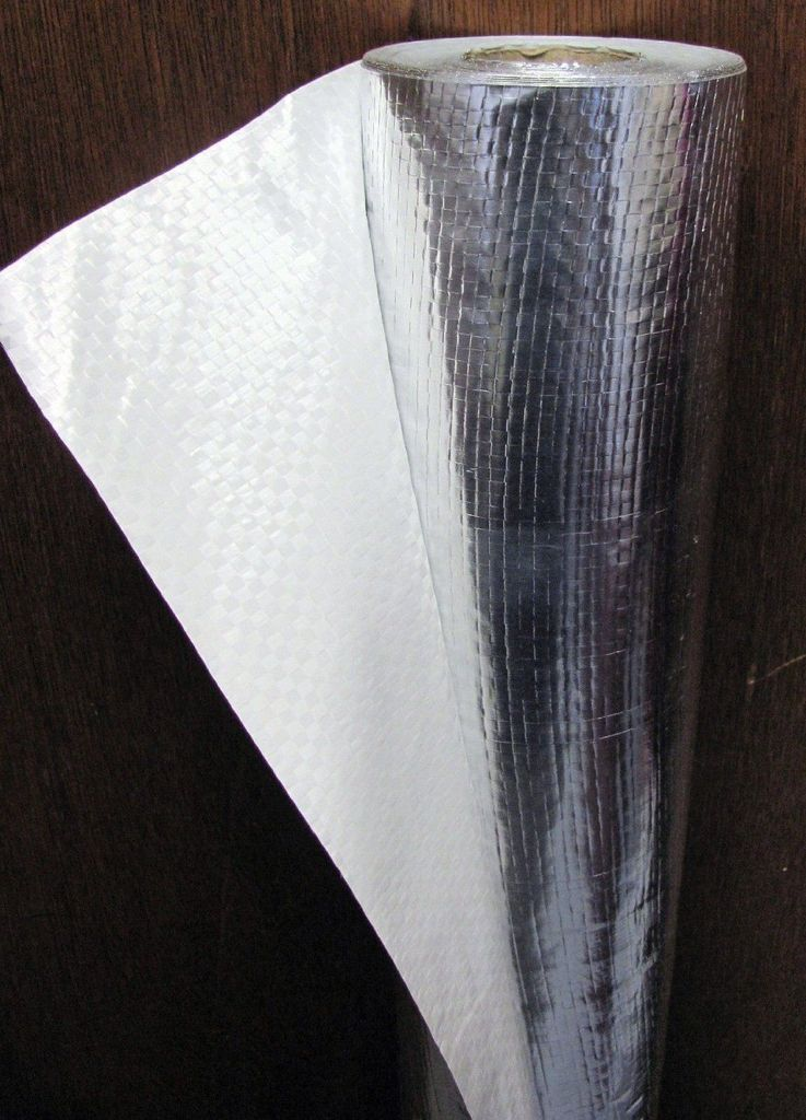 4ft x 50ft Super Shield Non Perforated White Samples 6 mil Reflective Insulation