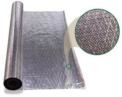 4ft x 25ft Diamond Perforated Samples  Radiant Barrier reflective insulation