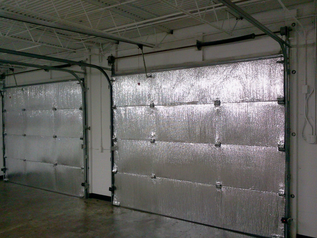 Double 16'Lx7'H Garage door Silver Reflective Foam (not cheap bubble) 5 panel 16'Lx7'H