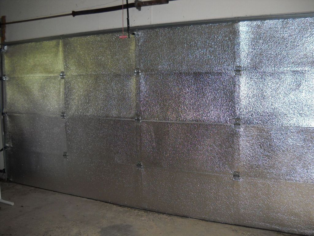 Double 16'Lx7'H Garage door Silver Reflective Foam (not cheap bubble) 4 panel 16'Lx7'H