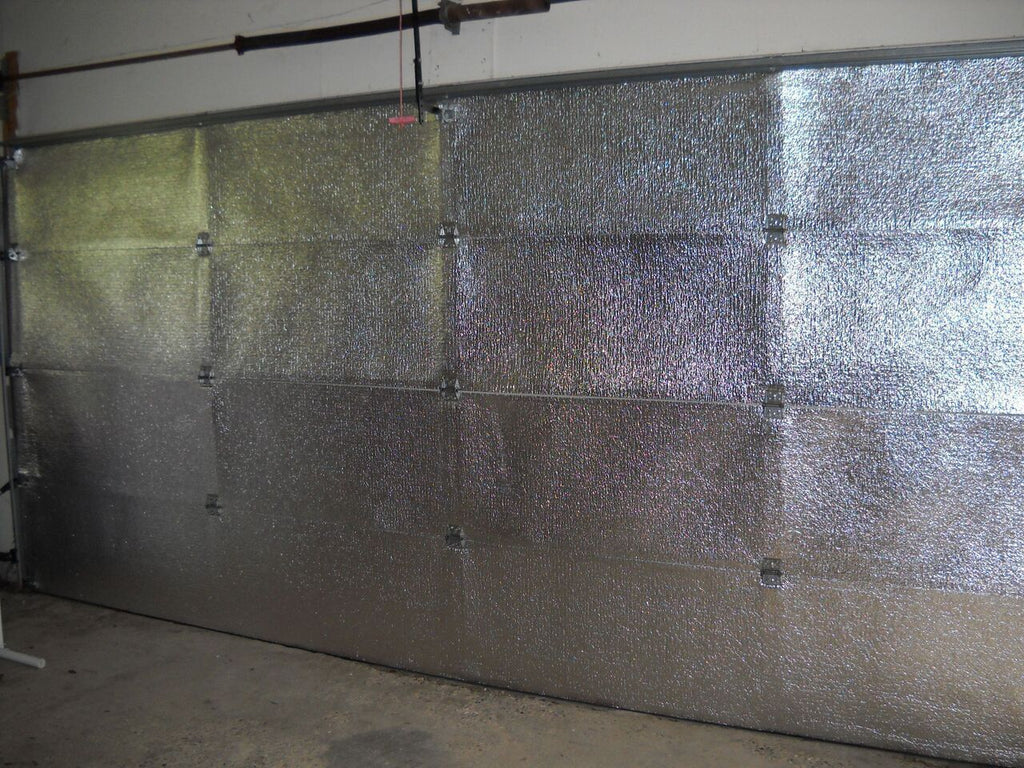 Commercial 14'Hx14'L Garage Door Insulation Reflective Platinum Foam Core Kit MADE IN THE USA