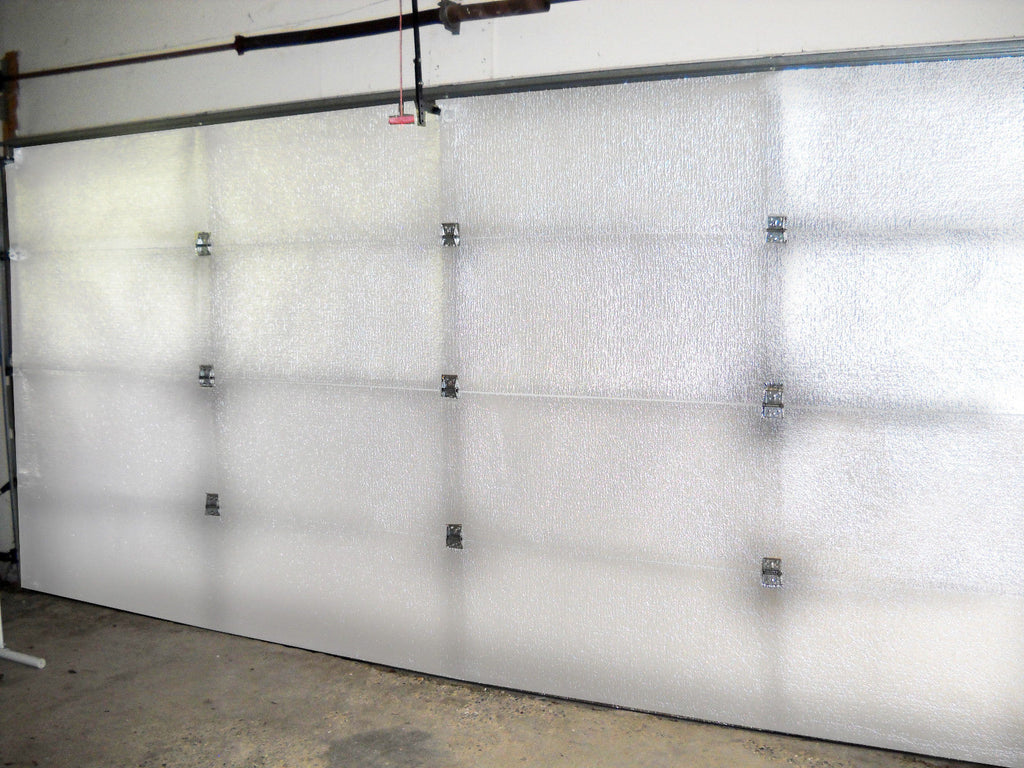 Double 18'Lx8'H Garage door White Reflective Foam (not cheap bubble) 4 panel 18'Lx8'H