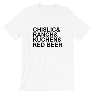 Short-Sleeve Unisex T-Shirt - It's Chislic-In' Good - Black Text
