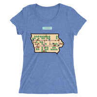 Ladies' short sleeve t-shirt - Super Iowa Bros