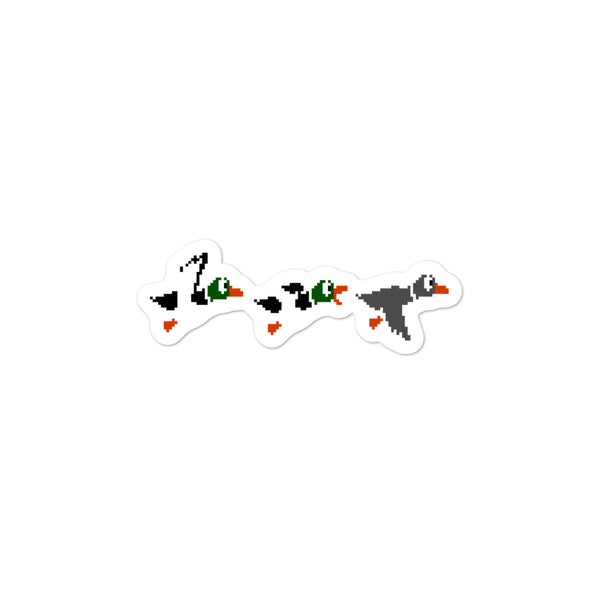 Bubble-free stickers - Gray Duck Hunt