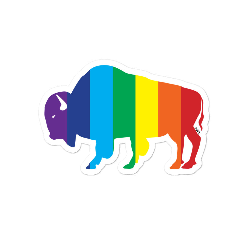 Bubble-free stickers - Rainbow BISON