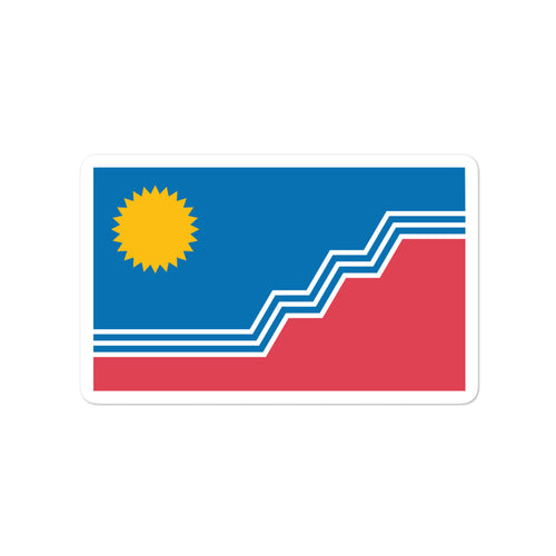 Bubble-free stickers - Sioux Falls Flag