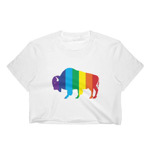 Women's Crop Top - Rainbow BISON