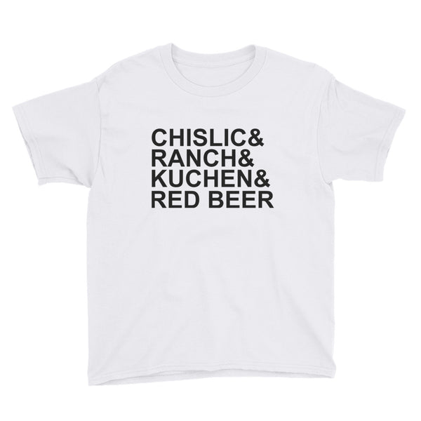 Youth Short Sleeve T-Shirt - It's Chislic-In' Good - Black Text