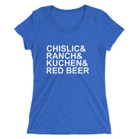Ladies' short sleeve t-shirt - It's Chislic-In' Good - White Text