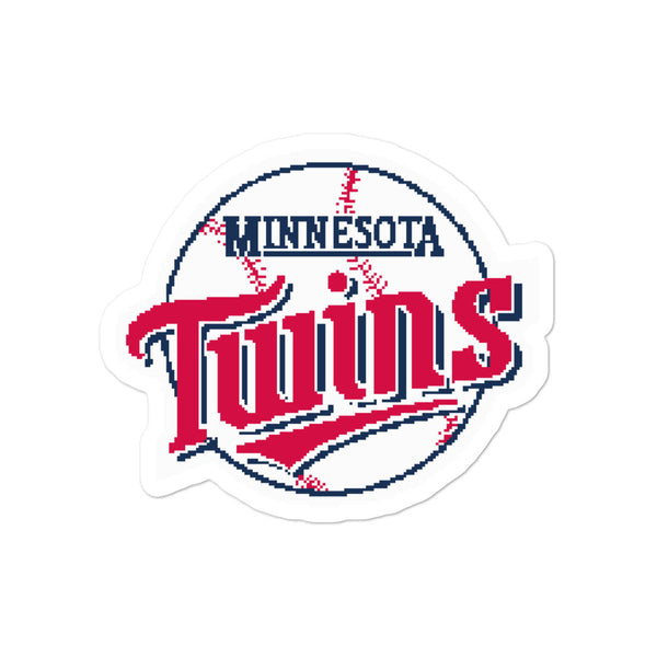 Bubble-free stickers - 8bit Twins Baseball