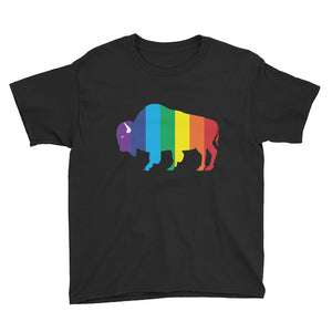 Youth Short Sleeve T-Shirt - Rainbow Bison