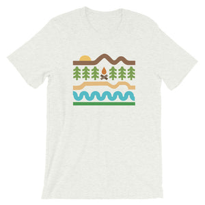 Short-Sleeve Unisex T-Shirt - Thick Lines