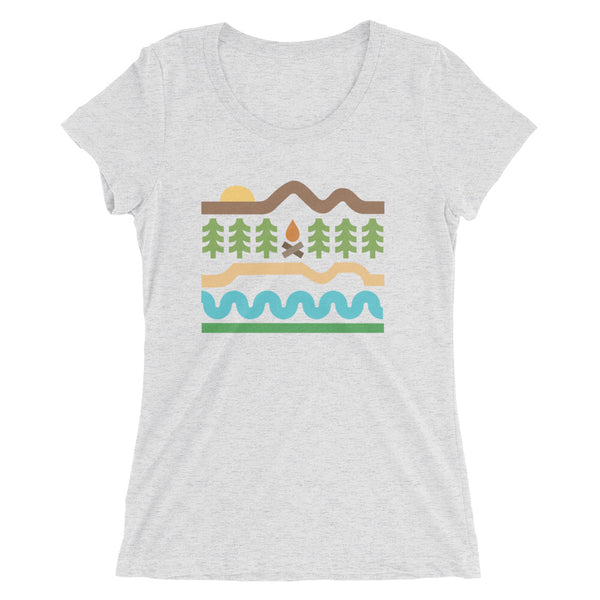 Ladies' short sleeve t-shirt - Thick Lines