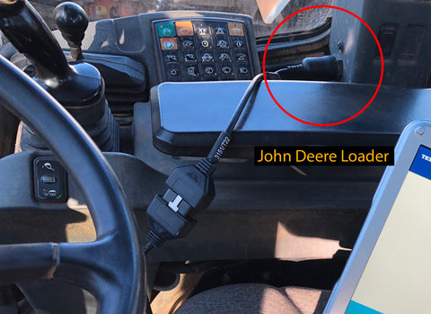John Deere Loader Cable Connection
