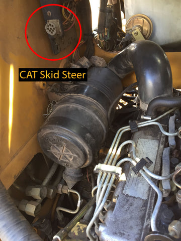 CAT Skid Steer Cable Connection