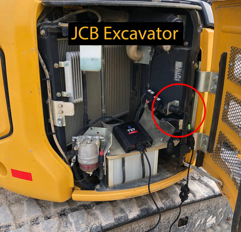 JCB Excavator Cable Connection