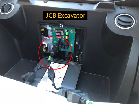 JCB Excavator with MTU Engine Cable Connection