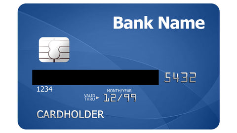 Example of credit card for fraud prevention
