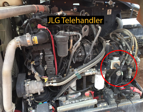 JLG Telehandler Cable Connection