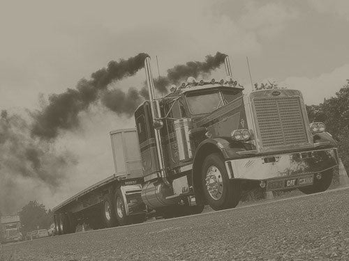 Truck with smoke