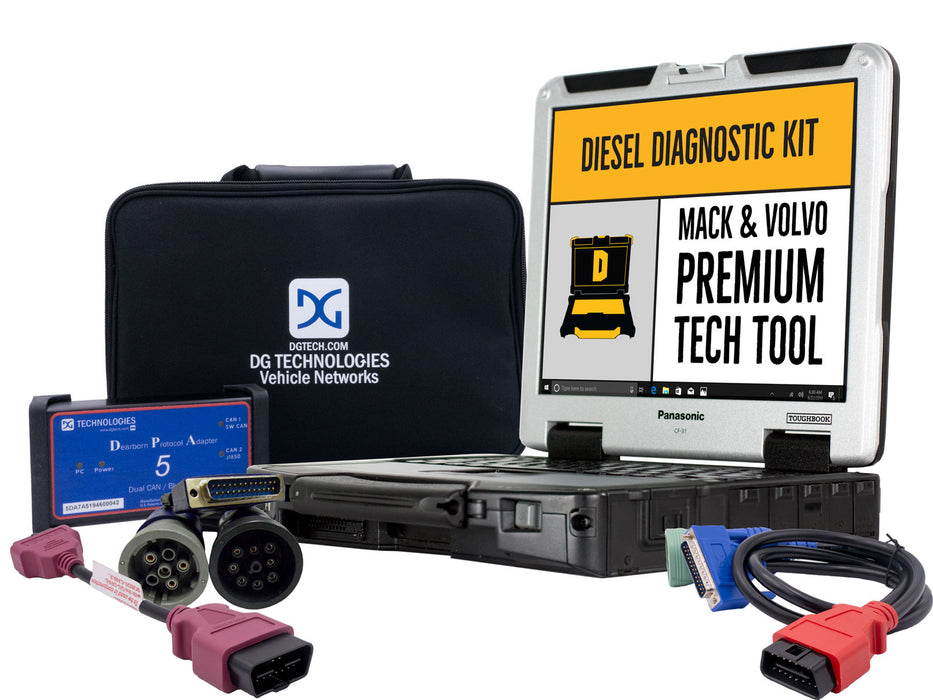 Mack & Volvo Premium Tech Tool Diesel Diagnostic Laptop Kit