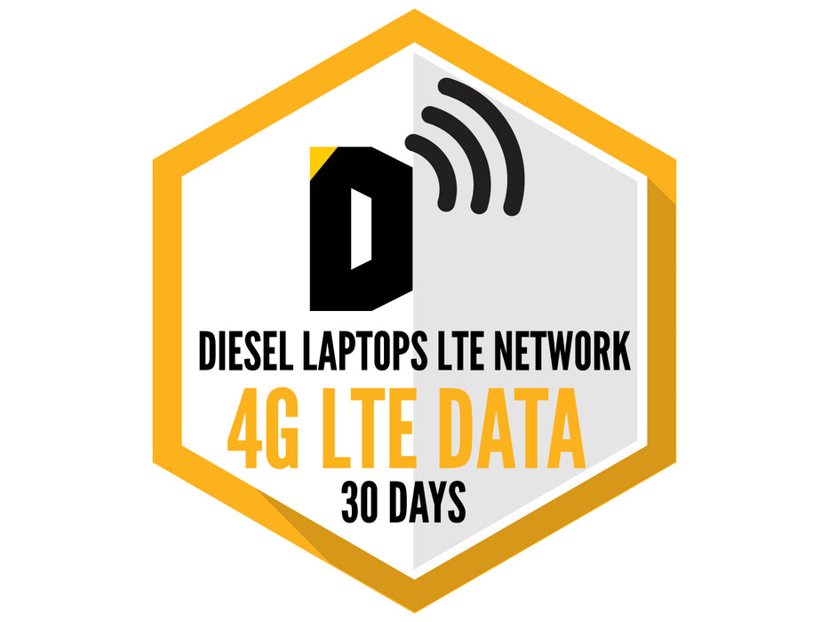 Diesel Laptops LTE Network 4G LTE Unlimited Data 30 Days