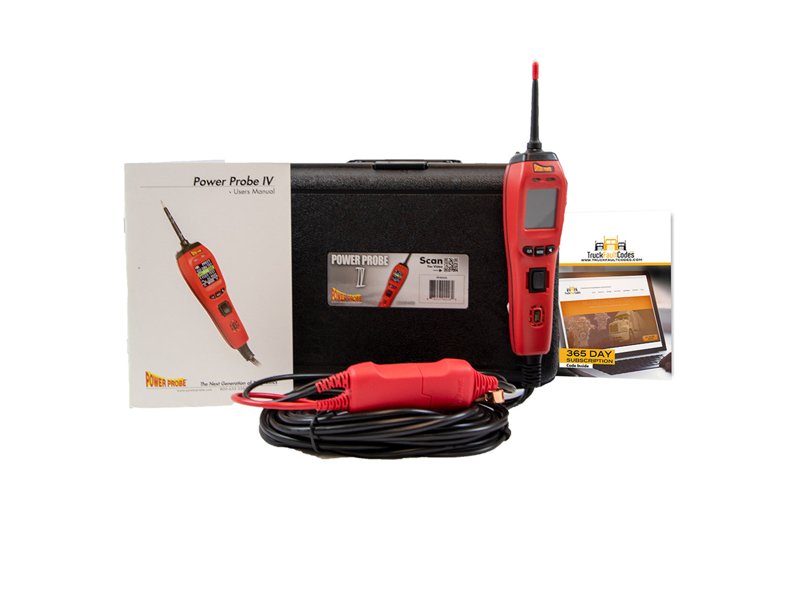 Power Probe IV Red & Accessories Bundled with Truck Fault Codes