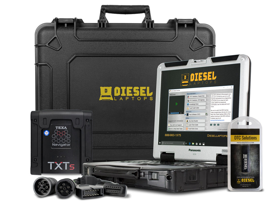 TEXA Dealer Level Truck Diagnostic Scanner Tool with Laptop