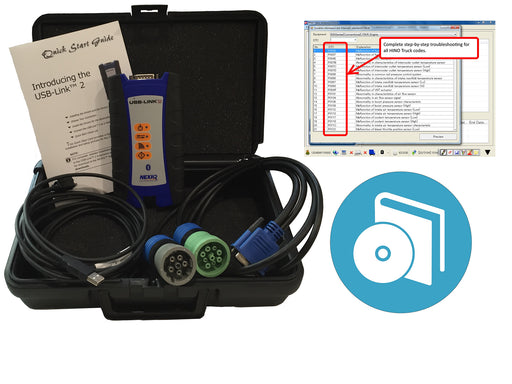 Hino DX2 with Nexiq USB Link & OBDII Cable