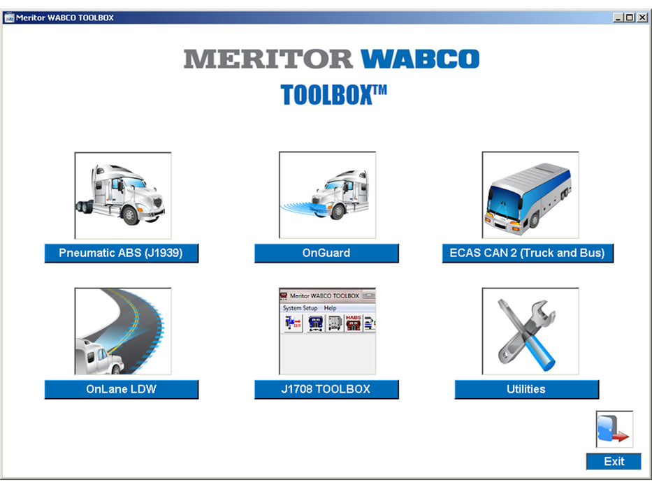 Meritor WABCO ABS Diagnostic Software Toolbox v12