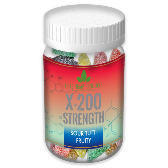 x200 Strength - Elite Gummies - Hemp Infused Fruit Gummies